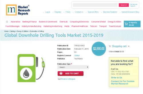 Global Downhole Drilling Tools Market 2015-2019'