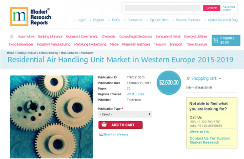 Residential Air Handling Unit Market in Western Europe 2015'