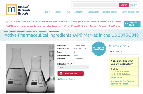 Active Pharmaceutical Ingredients Market in the US 2015'