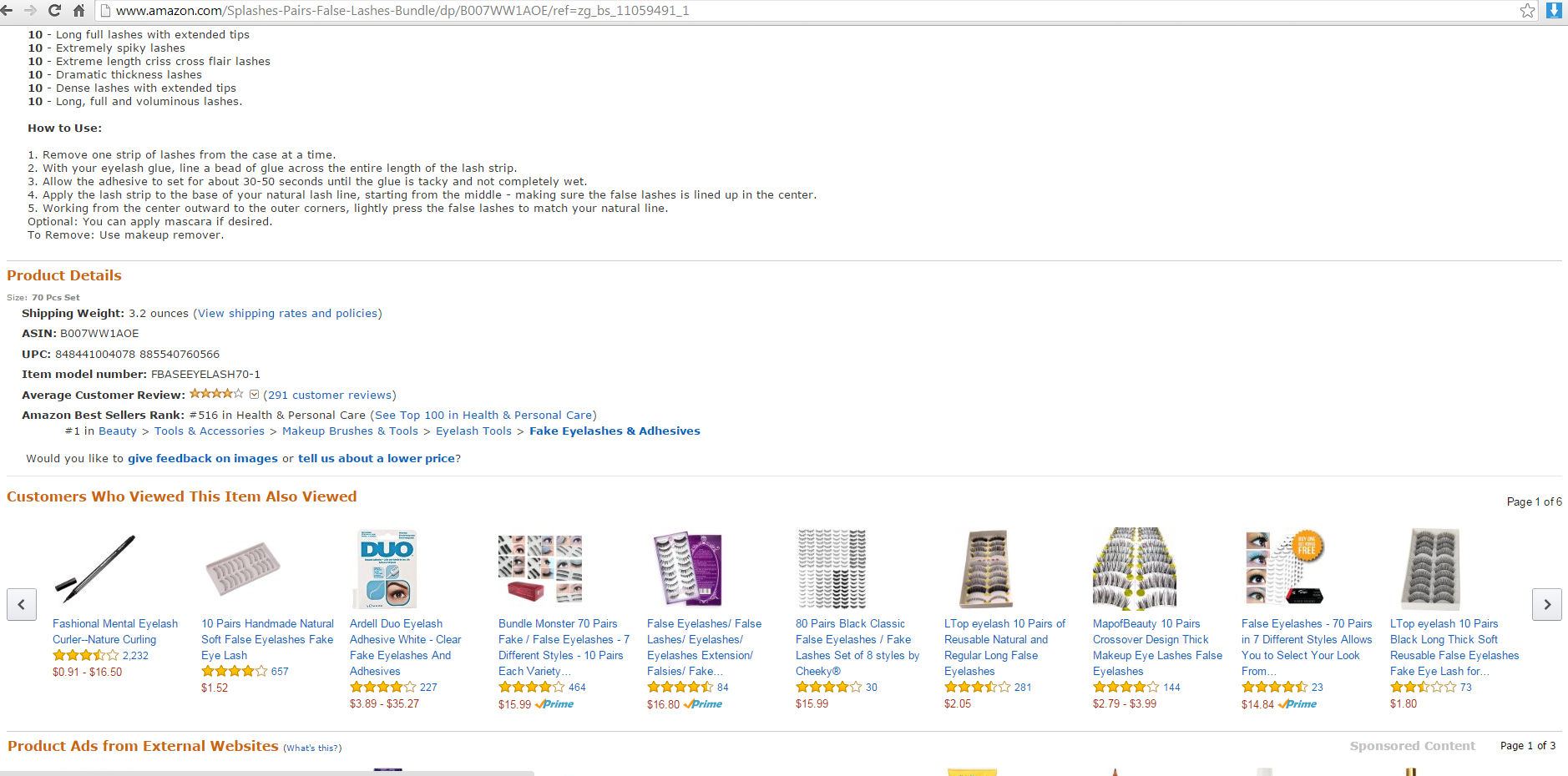 Amazon Eye Splashes Screenshot