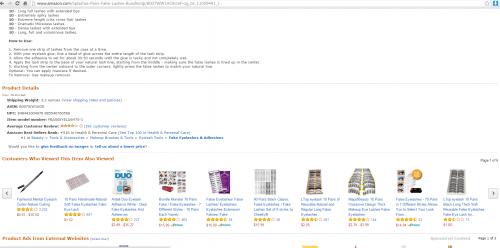 Amazon Eye Splashes Screenshot'