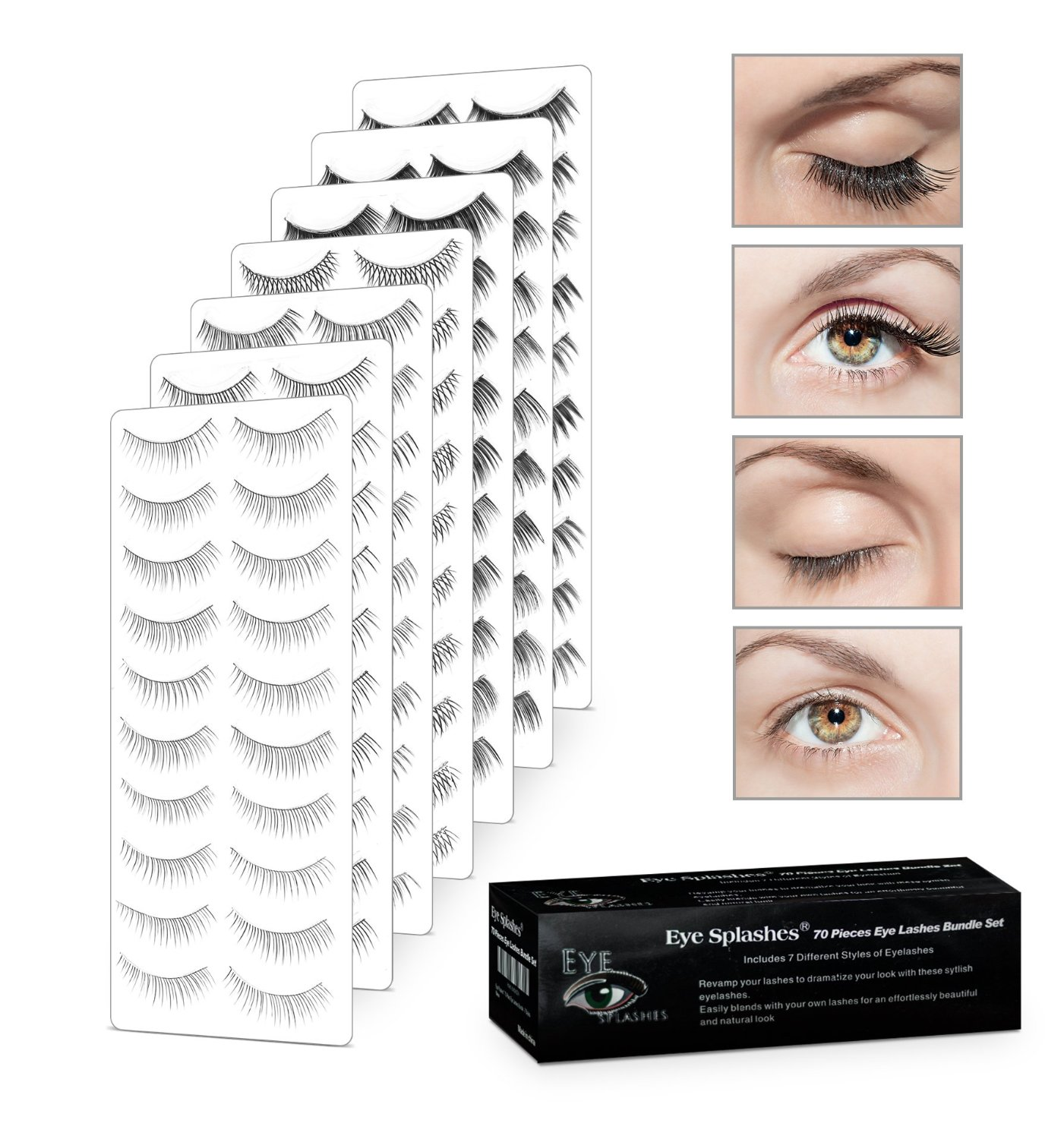 Salona Eye Splashes False Eyelashes 70 Pair Set