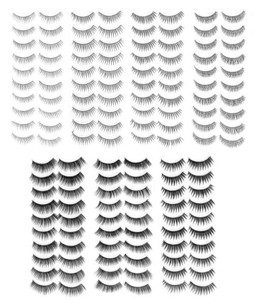 Salona Eye Splashes Variety False Eyelashes 70 Pair Set'
