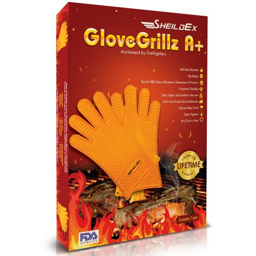 SheildEx Silicone Kitchen & BBQ Grilling Gloves'