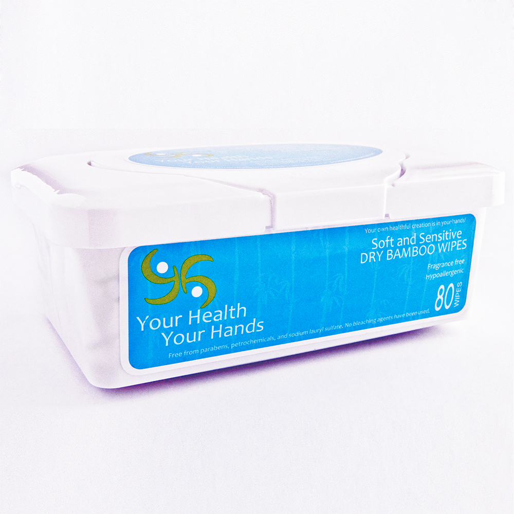 Your Health Your Hands 100% Bamboo Dry Wipes