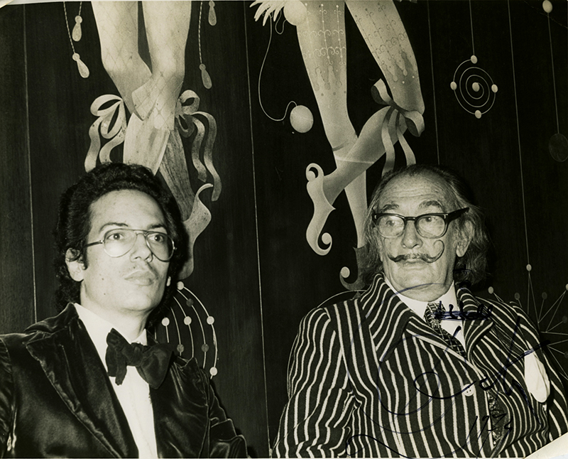 Louis Markoya and Salvador Dali At NY's St Regis Hotel