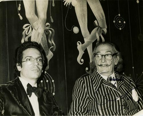 Louis Markoya and Salvador Dali At NY's St Regis Hotel'
