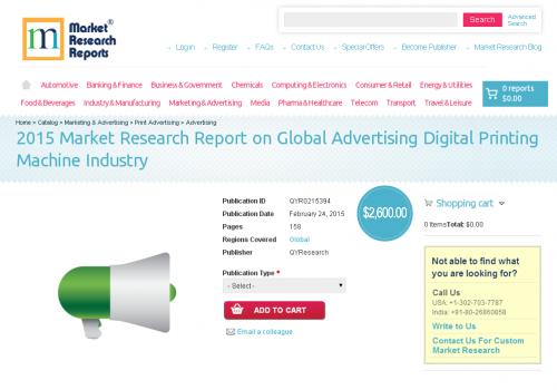 Global Advertising Digital Printing Machine Industry Market'
