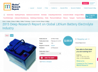 Global Lithium Battery Electrolyte Industry 2015