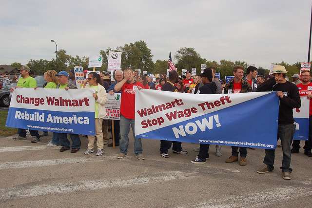 Walmart Workers Protesting