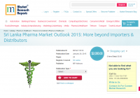 Sri Lanka Pharma Market Outlook 2015