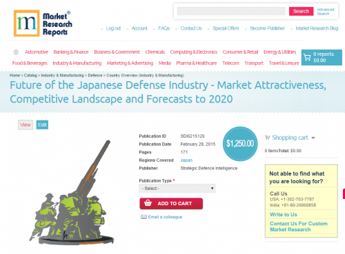 Japanese Defense Industry  to 2020'