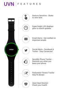 Simple, Stylish, Solar powered, Smart watch.