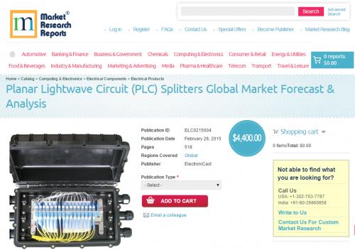 Planar Lightwave Circuit (PLC) Splitters Global Market Forec'