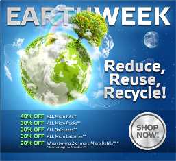 discounts offered by Safe Cig on Earth Week'