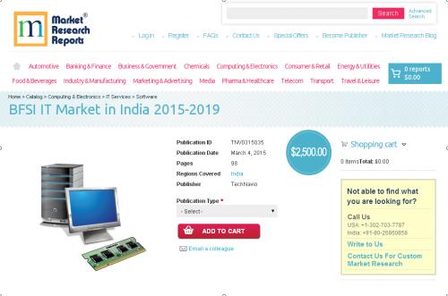 BFSI IT Market in India 2015 - 2019'