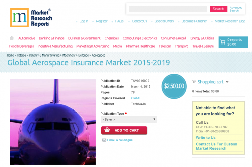 Global Aerospace Insurance Market 2015-2019'