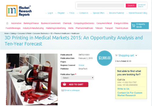 3D Printing in Medical Markets 2015'