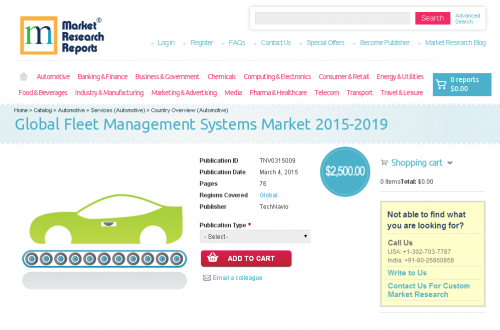 Global Fleet Management Systems Market 2015 - 2019'