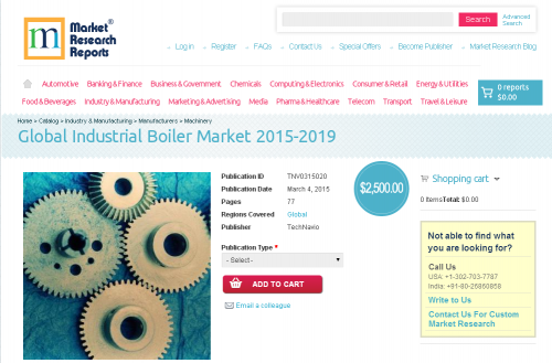 Global Industrial Boiler Market 2015 - 2019'