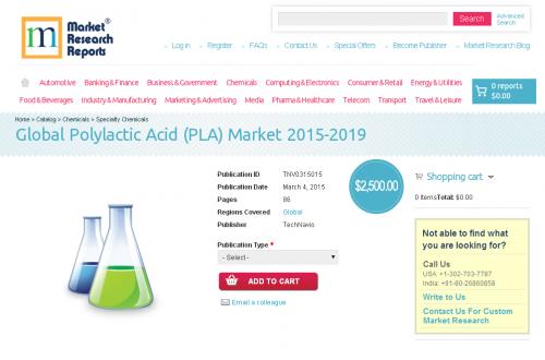 Global Polylactic Acid (PLA) Market 2015 - 2019'