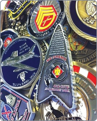 military challenge coins'