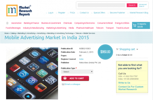 Mobile Advertising Market in India 2015'