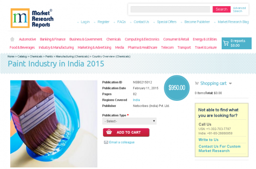 Paint Industry in India 2015'