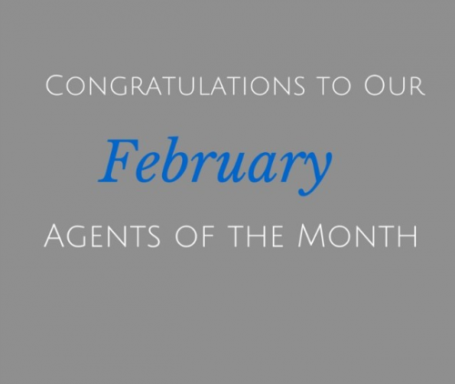 February's Real Estate Agents of the Month'