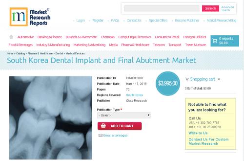 South Korea Dental Implant and Final Abutment Market'