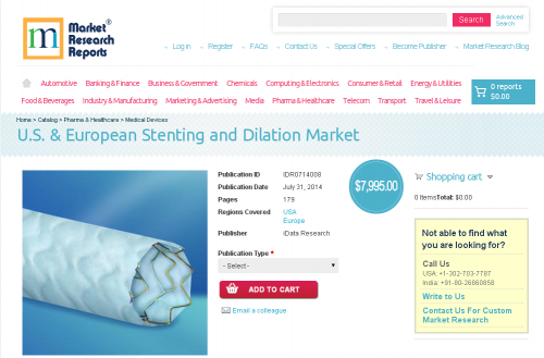 U.S. & European Stenting and Dilation Market'