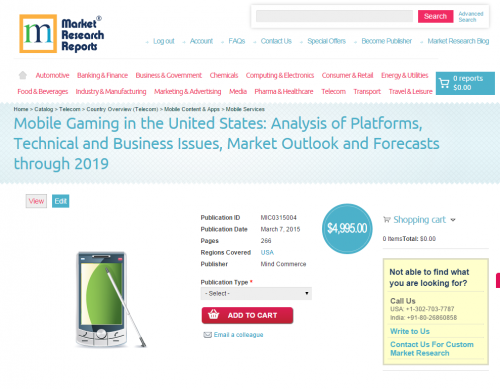 Mobile Gaming in the United States'