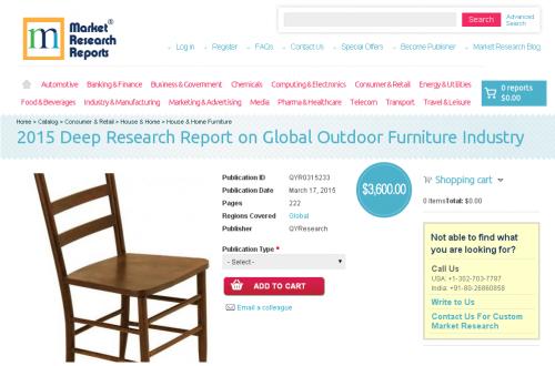 Global Outdoor Furniture Industry Market 2015'