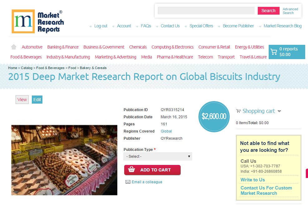 research on biscuit industry Introduction biscuits in europe industry profile provides top-line qualitative and quantitative summary information including: market share, market size.