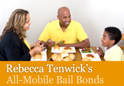 Logo for Rebecca Tenwick's All-Mobile Bail Bonds'