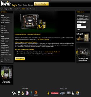 Bwin mobile poker'