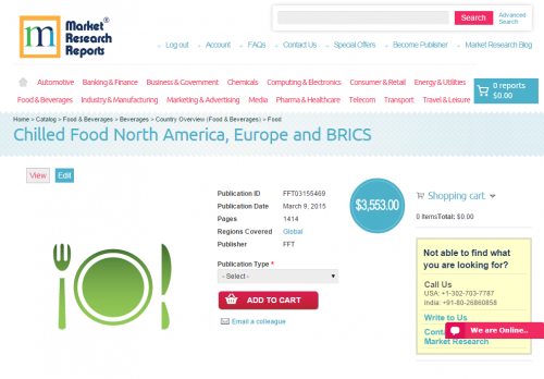 Chilled Food North America, Europe and BRICS'