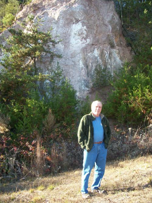 Jerry Anselmo at 1767 Cherokee Kaolin Mine'