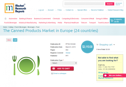 The Canned Products Market in Europe (24 countries)'