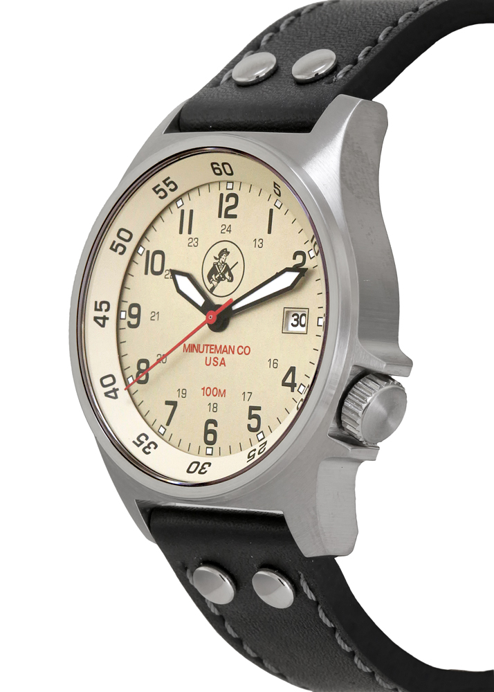 Minuteman Cowpens Wrist Watch assembled in the USA.