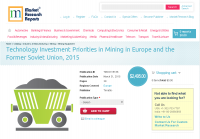 Technology Investment Priorities in Mining in Europe