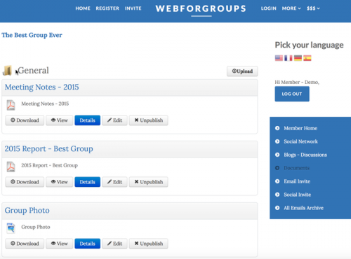 WebForGroups | Your own Private World'