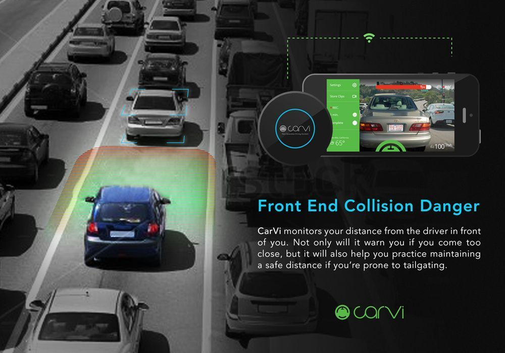 CaVi monitors distance between driver and other vehicles.
