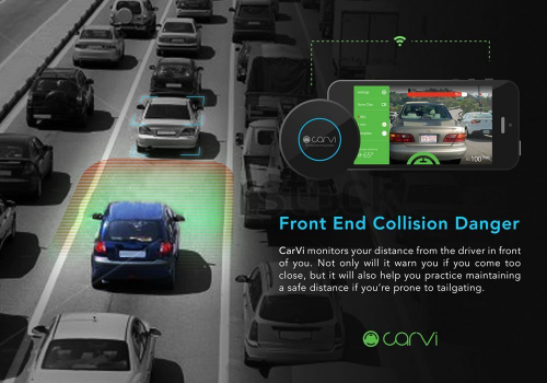 CaVi monitors distance between driver and other vehicles.'