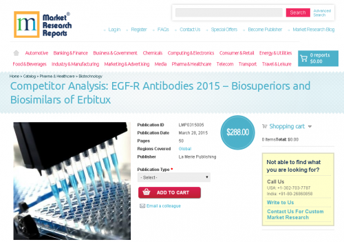 EGF-R Antibodies 2015 - Biosuperiors and Biosimilars'