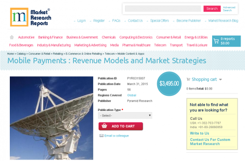 Mobile Payments : Revenue Models and Market Strategies'