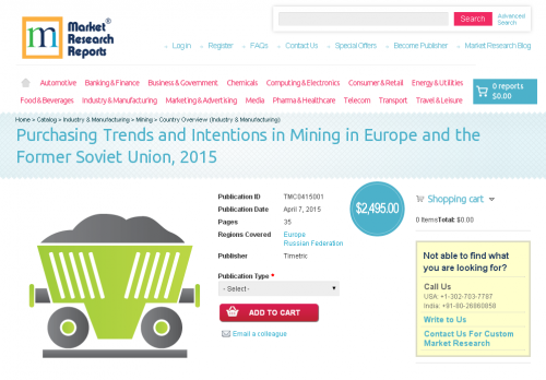 Purchasing Trends and Intentions in Mining in Europe'