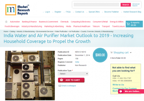 India Water and Air Purifier Market Outlook to 2019'