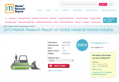 Global Industrial Robots Industry Market 2015'