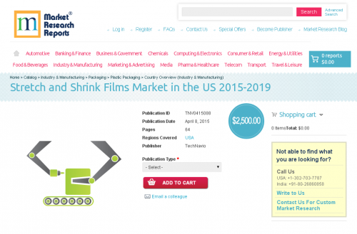 Stretch and Shrink Films Market in the US 2015-2019'
